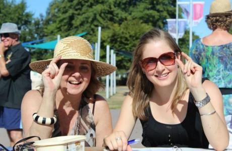 Swimarathon Rachel and Anne