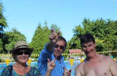 Swimmarathon Sue heinz and Jeremy
