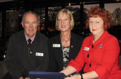 Roger Hall, Judith Stanway, and Deb Bell - Paul Harris Fellows
